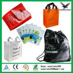 Custom HDPE/LDPE printed plastic shopping bag, plastic bags