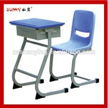 Single school desk and chair,school furniture