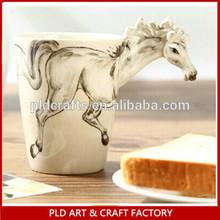 3D Animal handle artistic ceramic cup