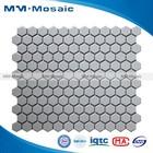 Decorative glossy white hexagon shiny ceramic floor tile 260x300mm CZG202Y MM-Mosaic