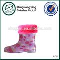الوردي أحذية المطر المطاط التمهيد المطر في فصل الشتاء الدافئ الأطفال/ c-705