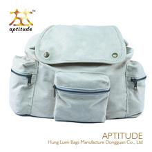 high quality vintage linen string bronze hardware wholesale school backpack
