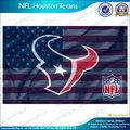 la nfl houston texans banderas con el logotipo de banderas de estados unidos
