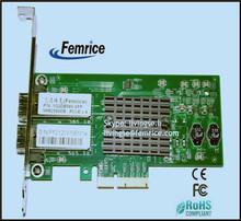 Intel 82580 Chipset PCI-E x4 Transportation, Serial Ports Card Gigabit Ethernet Pro/1000Mbps SFP Server Adapter