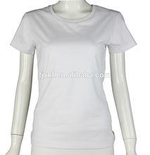 Fashion women's short sleeve 100 cotton t shirt factory direct price