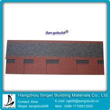 asphalt fiberglass color granules Material laminated shingle