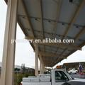 cochera a prueba de agua de energía solar fotovoltaica módulos de coche soporte de montaje de aluminio cocheras