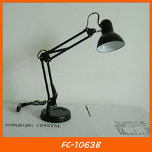 Black student reading metal folding desk light / desk lamp FC-1063B