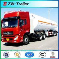 Stainless Steel 3-axle 40-50CBM truck fuel tank / diesel oil Tanker / fuel tank semi trailer connect 10 wheeler tractor truck