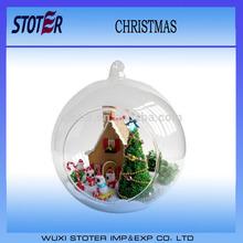 2014 glass christmas open ball ornaments