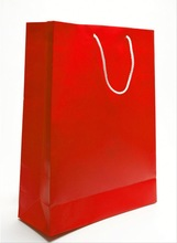Custom Red Printing Kraft Paper Retail Shopping Bag with String Handle