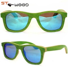 recycled skateboard bamboo and wood sunglasses