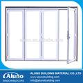 Powdercoating blanco puerta de plegamiento de aluminio