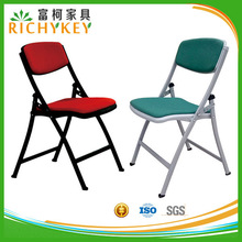 Hot sales and good quality upholstered folding chairs with fabric and leather cushion for option