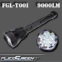 Flexgreen high bright 9 XML T6 10000 lumen led flashlight