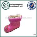 أحذية المطر الاطفال الشتاء الدافئ يدوياعارية/ c-705