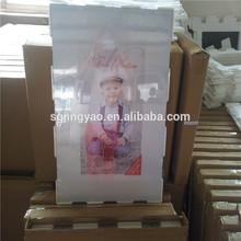 glass frameless pictures, 60*80cm clip frame,