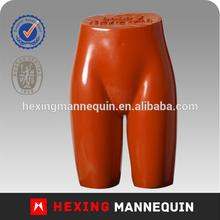 Orange standing fibergalsss female short pant mannequin