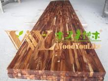 Zhejiang factory manufacturer acasia real wood kitchen worktops wood block worktops