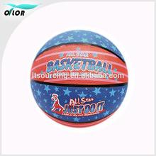Super design supermarket hotselling leather basketballs