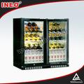 Voltar bar barril de cerveja geladeira/usado geladeira freezer/duas portas de geladeira comercial