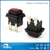 Safety approved waterproof momentary led push button switch 16a 250v t125