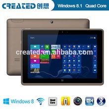 Good quality tablet windows 8.1 quad core 1.8GHz dual camera 3G Wifi Bluetooth