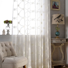 Professional embroidery curtain manufacturer shower ready made embroidery lace curtain