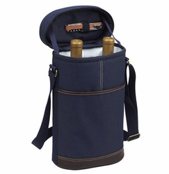 china cardboard wine carrier for 2 glass bottle in blue D06-209
