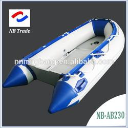 NB-AB-230-004 NingBang Aluminum alloy foldable Inflatable boat for fishing
