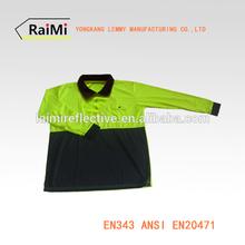 long sleeves Safety Polo Shirt reflective polo shirt