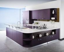 Unique design purple lacquer modern kitchen furniture pictures