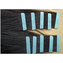 Tangle free shedding free No glue no heat no harm remy 5A tape on hair