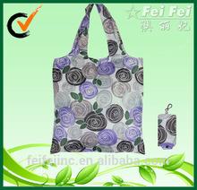 Reusable CMYK Full Color Folding Polyester Bag Shopping