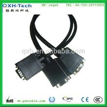 high resolution VGA 15pin connector cable VGA 3+4 cable