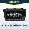 IOKONE 2013 8'' car dvd player for kia sorento with GPS , IPOD , Wifi/3G , SWC , BT
