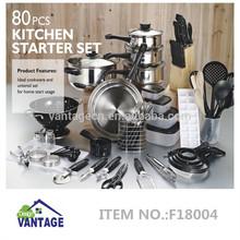 80pcs SUS Kitchen Tool Set
