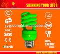 t3 13w mezzo spirale colorata lampada a risparmio energetico 10000h qualità ce