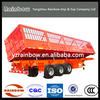 BEST QUALITY 3 AXLES ANIMAL TRAILER FOR SALE/cargo box trailer/van trailer for sale