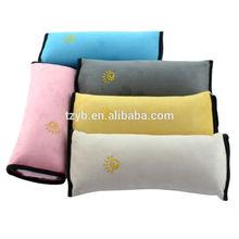 High quality Bolster shape plush travel pillow car safty nap resting child neck car seat belt pillow