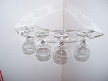 Cheap popular acrylic hanging wine glass rack