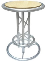2014 Factory direct sell high quality LED cocktail bar table aluninum long bar table