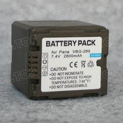 For Panasonic VBG260 Rechargeable Camera Battery 7.4V 2800mAh