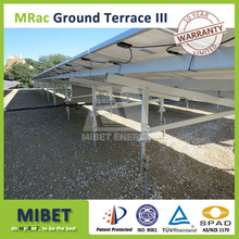 All Aluminum Ground Solar PV Panel Mounting Support Bracket System with Concrete Base or Ground Screws -- MRac GT III