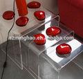 elegante acryl high heel schuh stuhl mit kissen