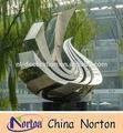 Grande moderna abstrata artes açoinoxidável escultura para decoração de jardim nts-014