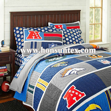 Wholesale high quality blue boy printed kid quilt/bed/children bedspread