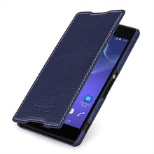 TETDED Premium Leather Case for Sony Z3 D6603 / D6616 / D6643 / D6653 / Z3 Dual D6633 -- Dijon II (LC: Navy Blue)
