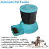 Newest LCD display food dispenser dry food portion control programmable automatic dog feeder With Customize Recorder