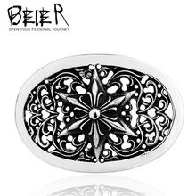 BEIER hexagram flower stainless steel for personality person belt buckle BK025